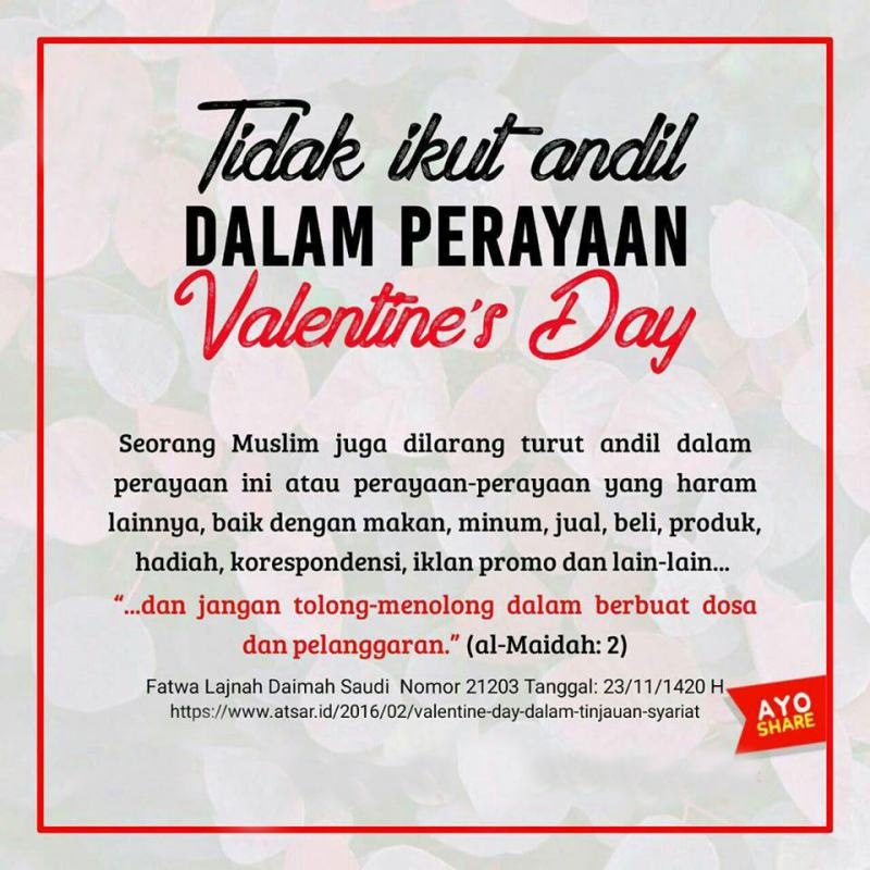 Stop Merayakan Hari Valentine Nasihat Sahabat