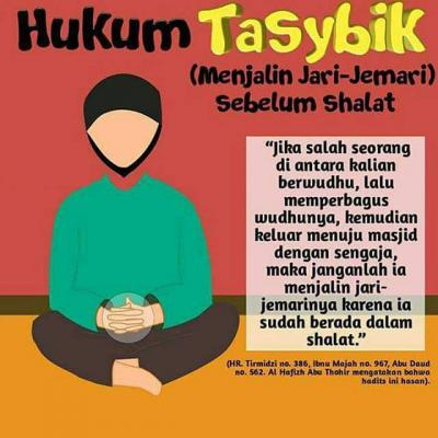 HUKUM TASYBIK (MENJALIN JARI-JEMARI) SEBELUM DAN SESUDAH SHALAT