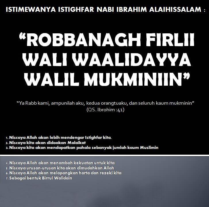 Istighfar Istimewanya Nabi Ibrahim