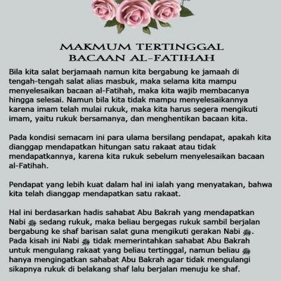 Makmum Tertinggal Bacaan Al-Fatihah