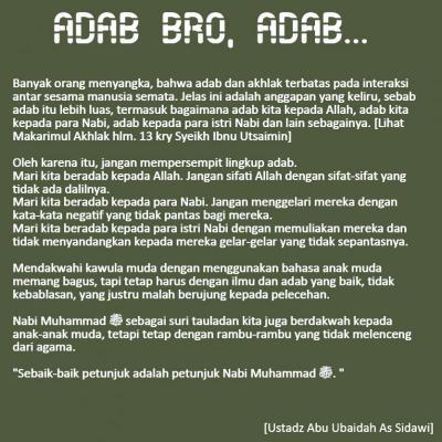 ADAB BRO, ADAB... (DAKWAH GAUL)