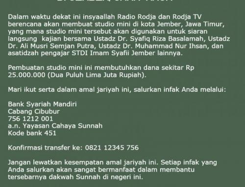 PEMBUATAN STUDIO MINI RODJA TV DI JEMBER, JULI 2018
