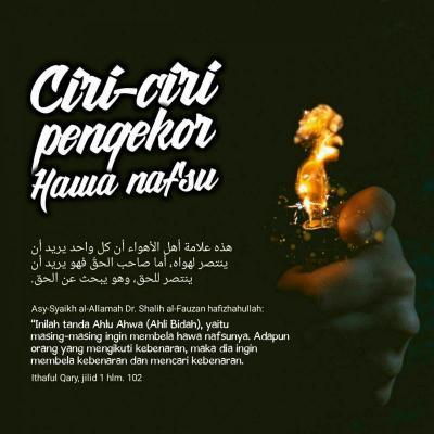 DI ANTARA CIRI-CIRI PENGEKOR HAWA NAFSU