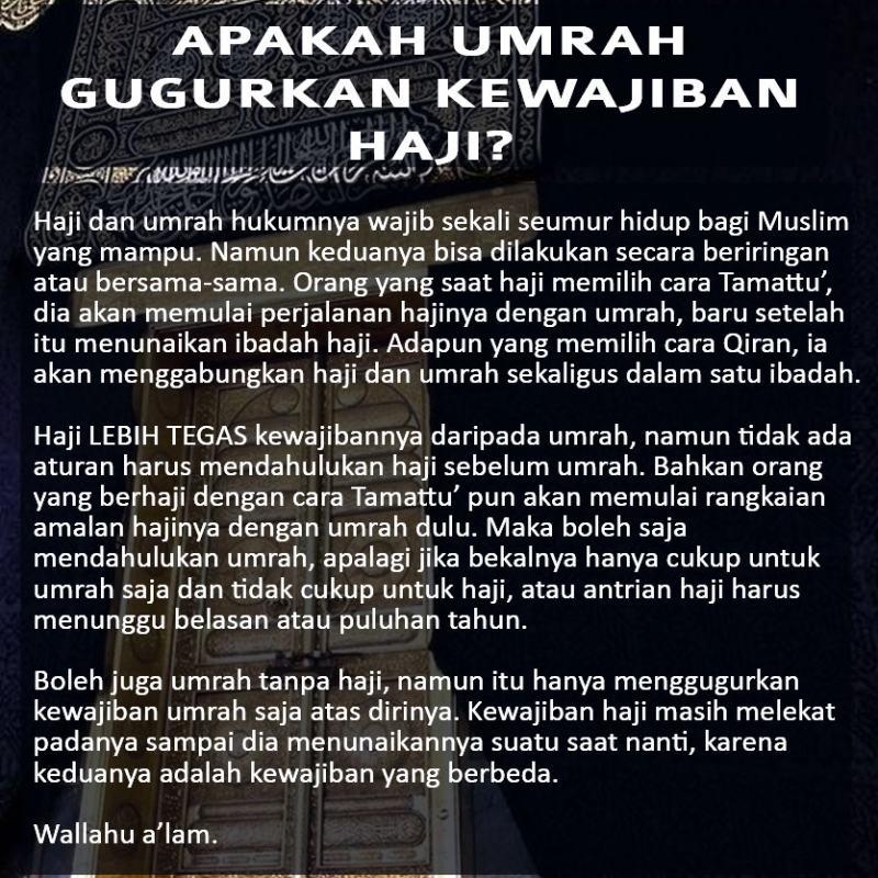 Apakah Umrah Gugurkan Kewajiban Haji?