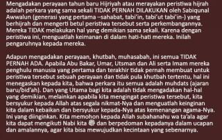 HUKUM MEMBERI UCAPAN SELAMAT MERAYAKAN TAHUN BARU ISLAM