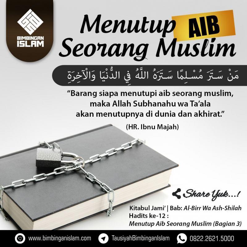 MENUTUP AIB SEORANG MUSLIM