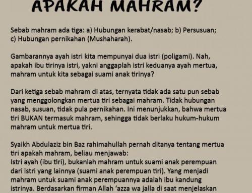 MERTUA TIRI APAKAH MAHRAM?