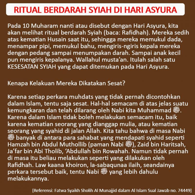 Ritual Berdarah Syiah Di Hari Asyura