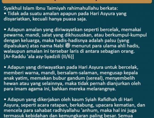 WASPADAI BIDAH-BIDAH DI HARI ASYURA