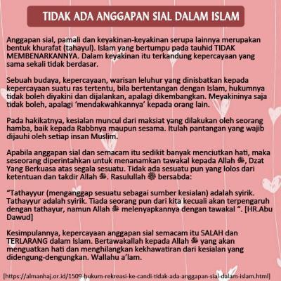 Tidak Ada Anggapan Sial Dalam Islam