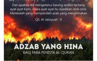AZAB YANG HINA BAGI PARA PENISTA ALQURAN