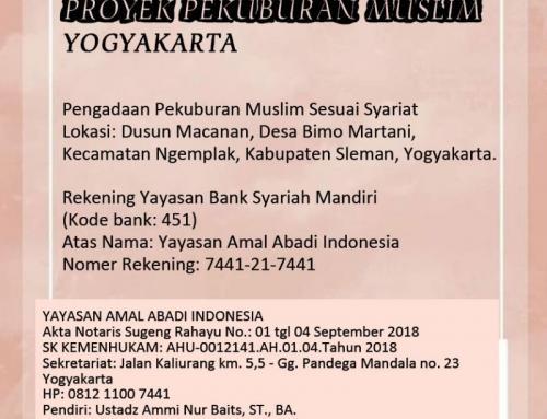 PROYEK PEKUBURAN MUSLIM – YOGYAKARTA
