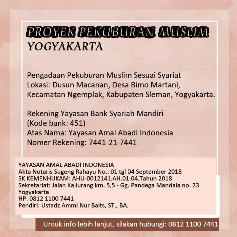 PROYEK PEKUBURAN MUSLIM - YOGYAKARTA