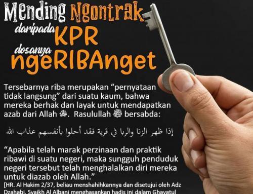 MENDING NGONTRAK DARIPADA KPR
