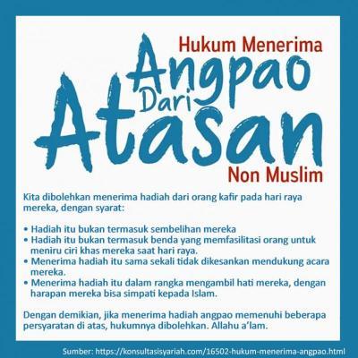 HUKUM MENERIMA ANGPAO DARI ATASAN NON-MUSLIM