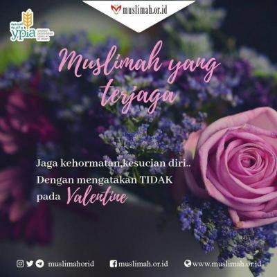 Muslimah Yang Terjaga Tidak Merayakan Valentine