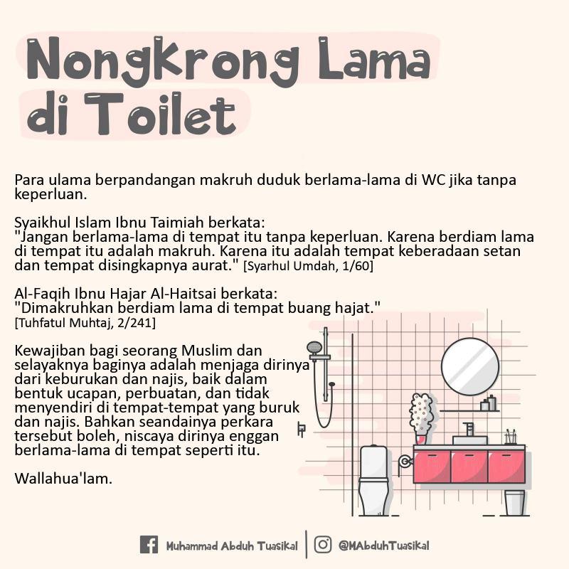 BOLEHKAH DUDUK BERLAMA-LAMA DI WC?