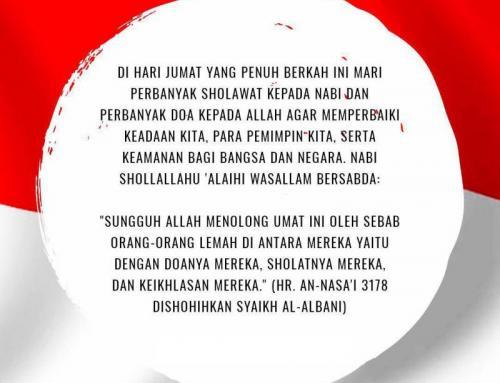 PEBANYAK DOA DI HARI JUMAT INI UNTUK KEBAIKAN BANGSA DAN NEGARA INDONESIA