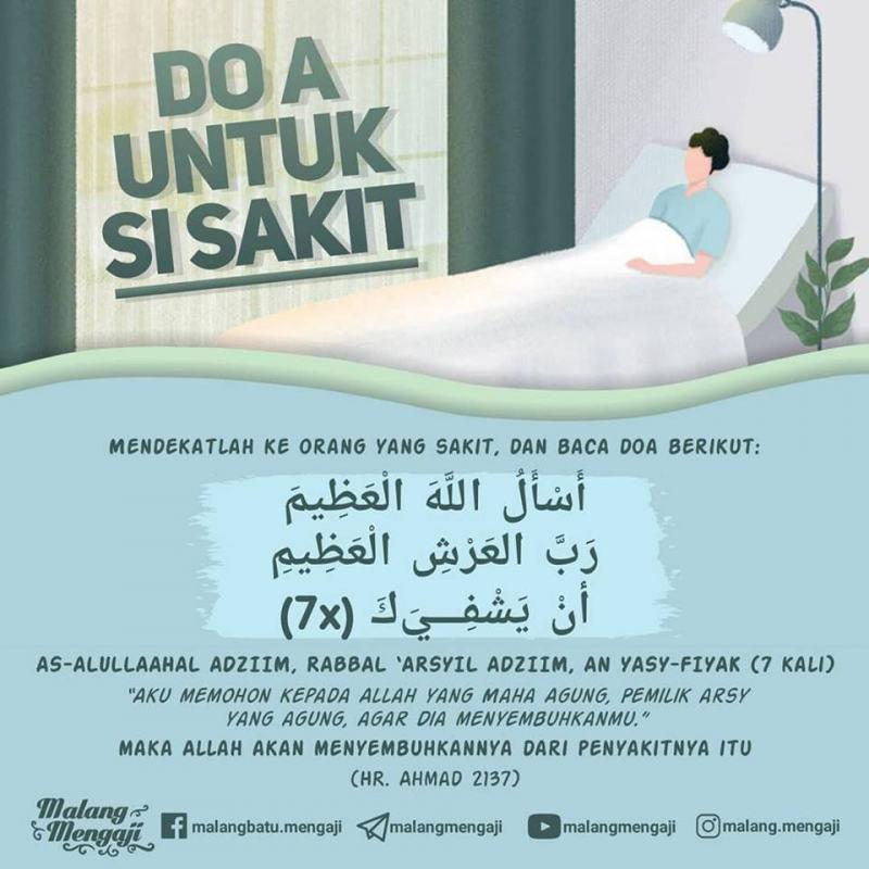 Doa Yang Dibaca Ketika Menjenguk Orang Sakit Nasihat Sahabat