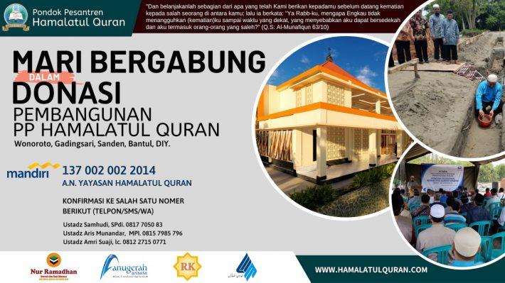 Patungan Wakaf Pembangunan Pp Hamalatul Quran Sanden Bantul