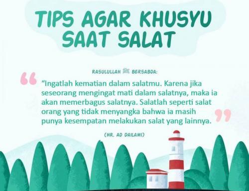 TIPS AGAR KHUSYU DALAM SALAT