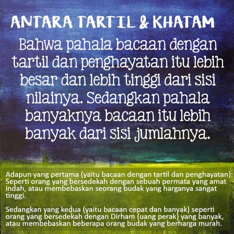ANTARA TARTIL DAN KHATAM