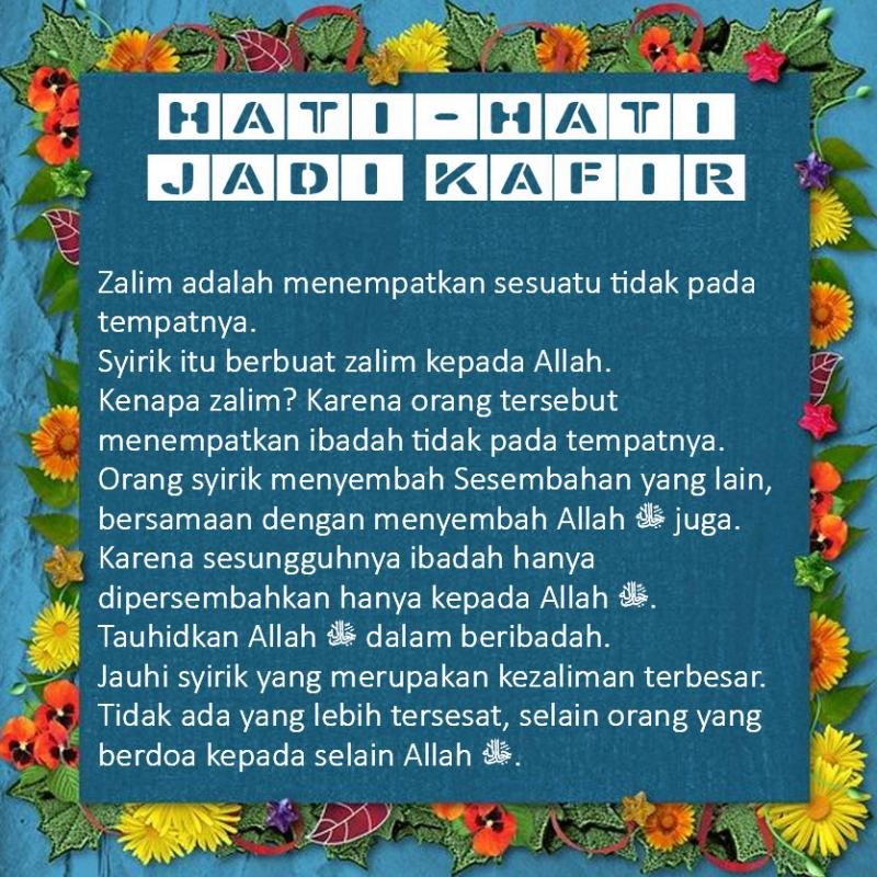 HATI-HATI JADI KAFIR