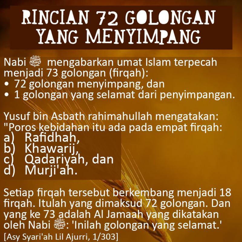 HANYA SATU GOLONGAN YANG SELAMAT: AL-FIRQAH AN-NAAJIYAH