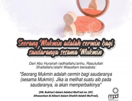 SEORANG MUSLIM ADALAH CERMIN BAGI SAUDARANYA