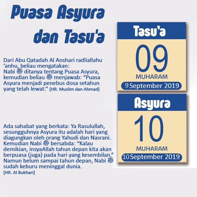 PUASA TASUA DAN ASYURA 1441 HIJRIYAH