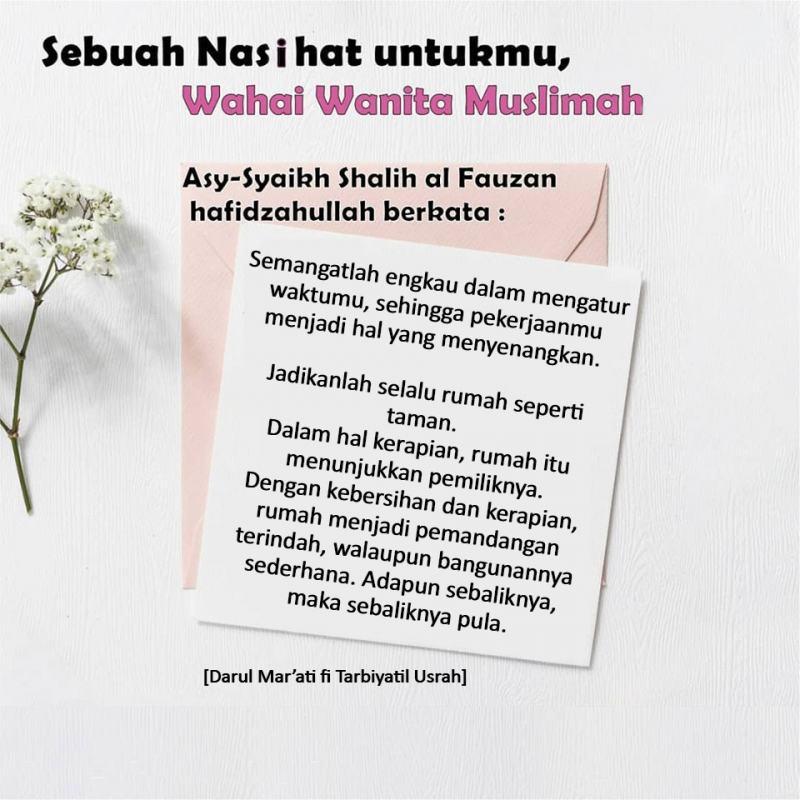 NASIHAT UNTUK WANITA MUSLIMAH DARI ASY-SYAIKH SHALIH AL FAUZAN