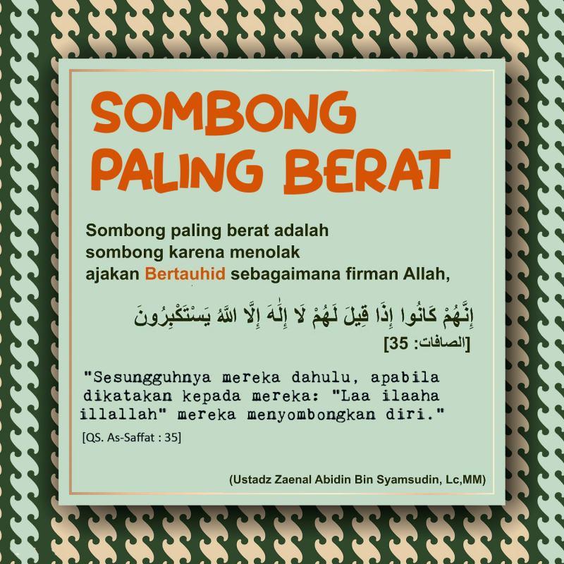 SOMBONG PALING BERAT