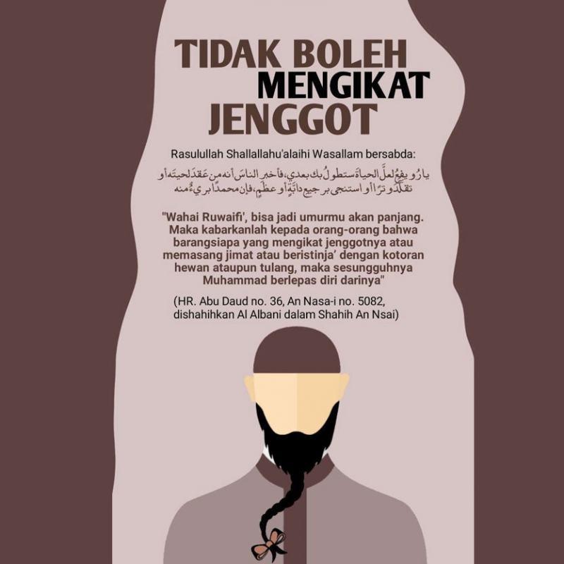 TERMASUK DOSA BESAR MEMILIN/ MENGIKAT JENGGOT