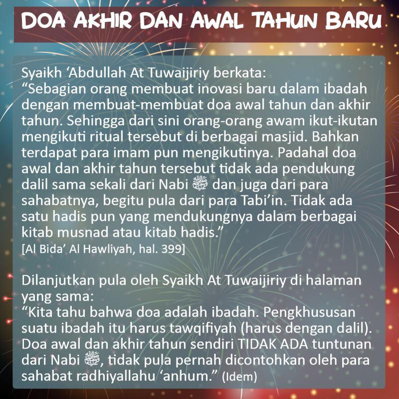 DOA AKHIR DAN AWAL TAHUN BARU ISLAM