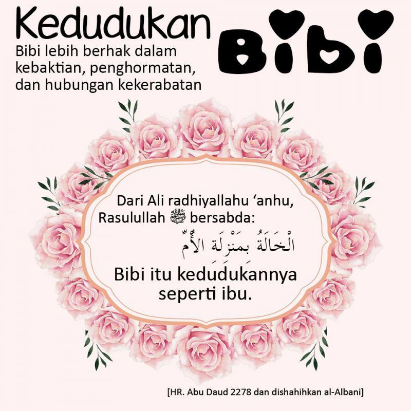 BESARNYA KEDUDUKAN BIBI (SAUDARA IBU) DALAM ISLAM