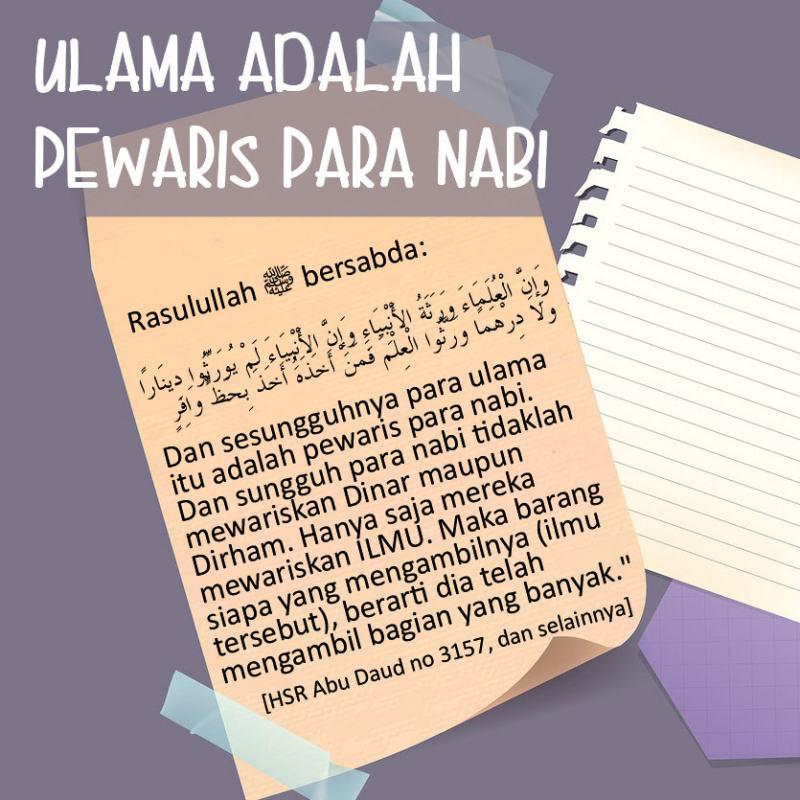 ULAMA ADALAH PEWARIS PARA NABI