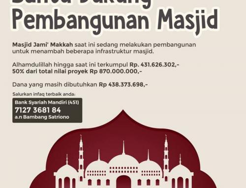 BANTU DUKUNG PEMBANGUNAN MASJID JAMI' MAKKAH (SURABAYA)