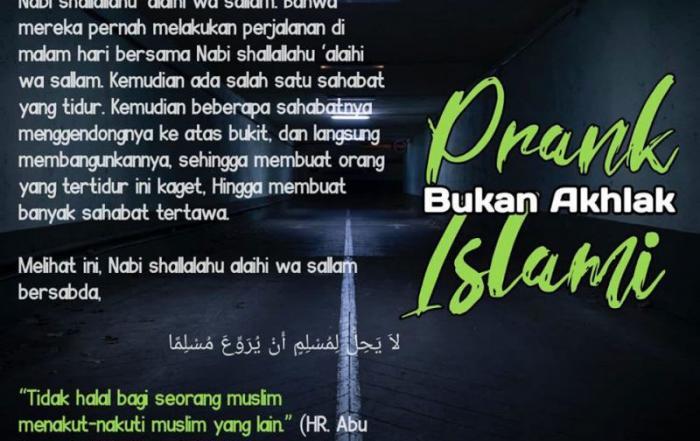 PRANK BUKAN AKHLAK ISLAMI
