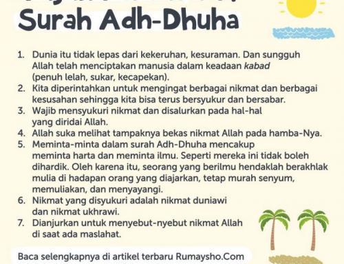 TUJUH FAIDAH DARI SURAT ADH-DHUHA
