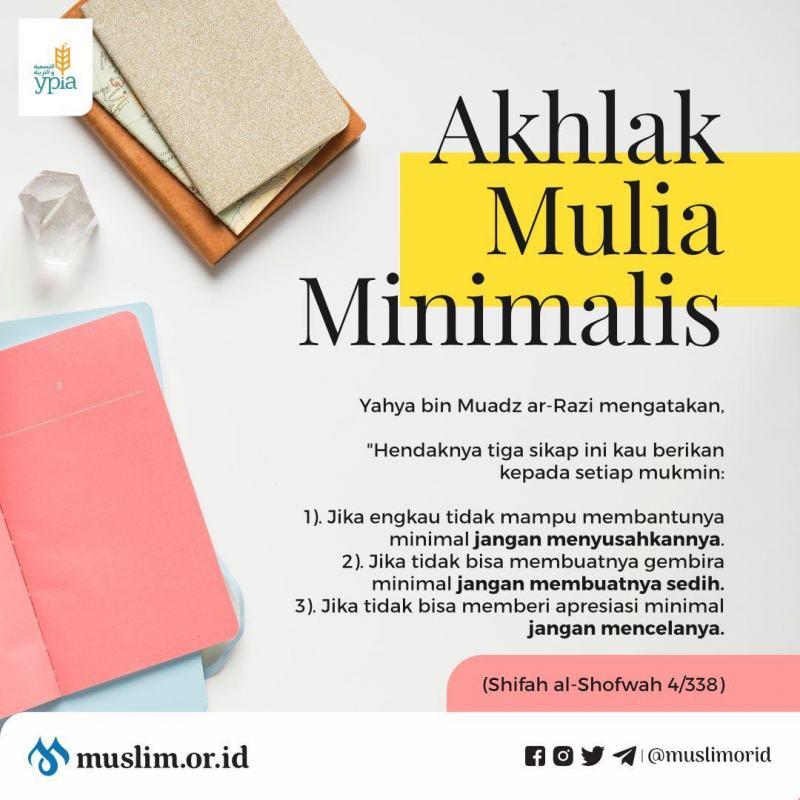 AKHLAK MULIA MINIMALIS