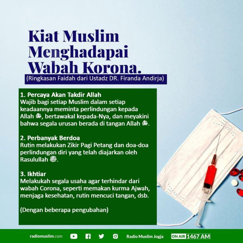 KIAT MUSLIM MENGHADAPI WABAH CORONA