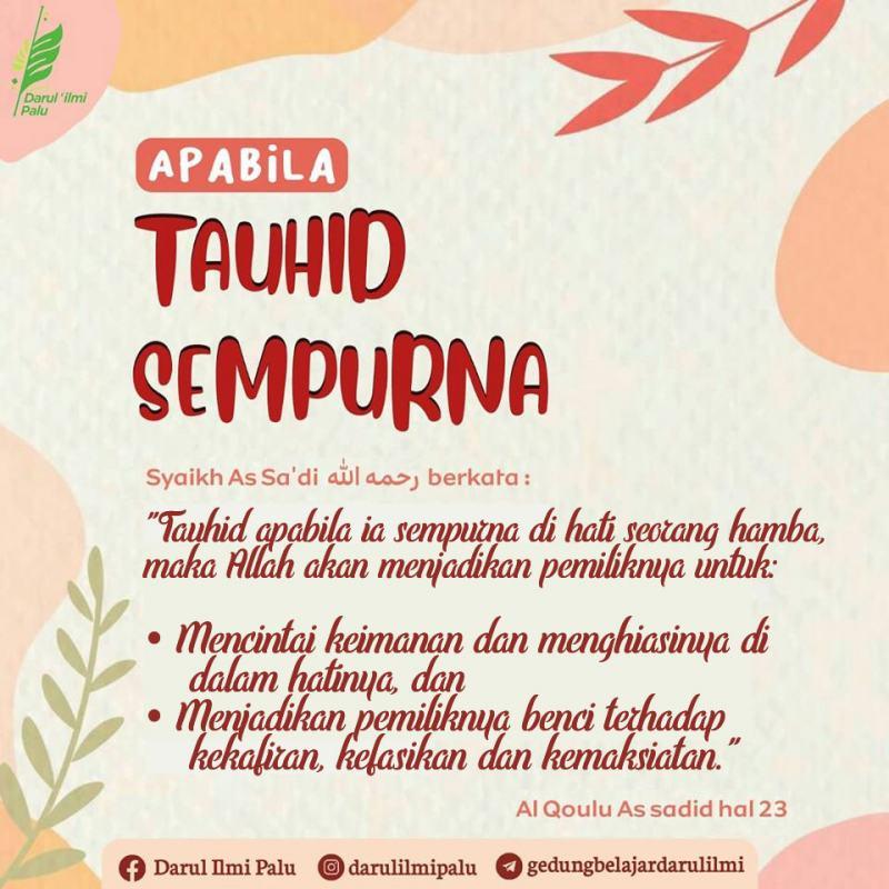 APABILA TAUHID SEMPURNA