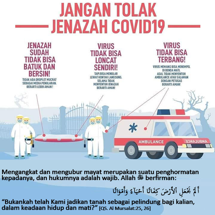 JANGAN TOLAK PENGUBURAN JENAZAH COFID-19
