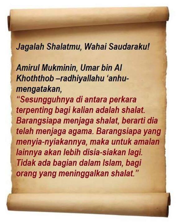 Jagalah Shalatmu, Wahai Saudaraku!