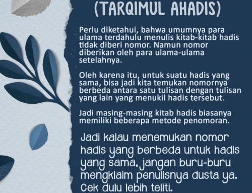 PENOMORAN HADIS (TARQIMUL AHADIS)
