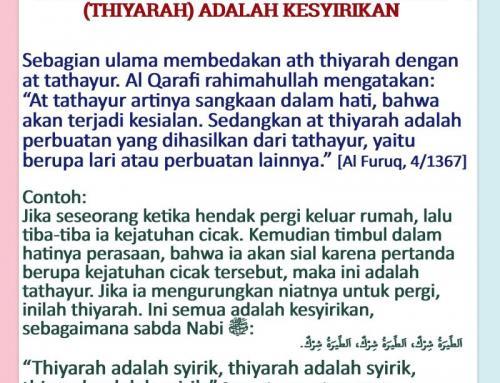ANGGAPAN SIAL KARENA SUATU PERTANDA ADALAH KESYIRIKAN