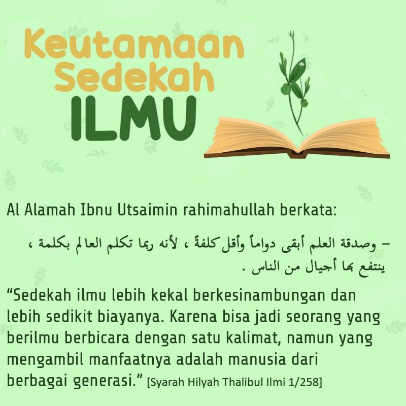 Image result for sedekah ilmu