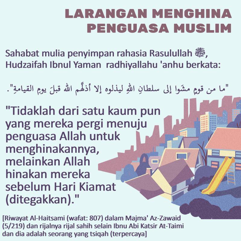 LARANGAN MENGHINA PENGUASA MUSLIM