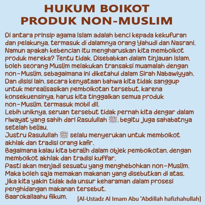 HUKUM BOIKOT PRODUK NON-MUSLIM