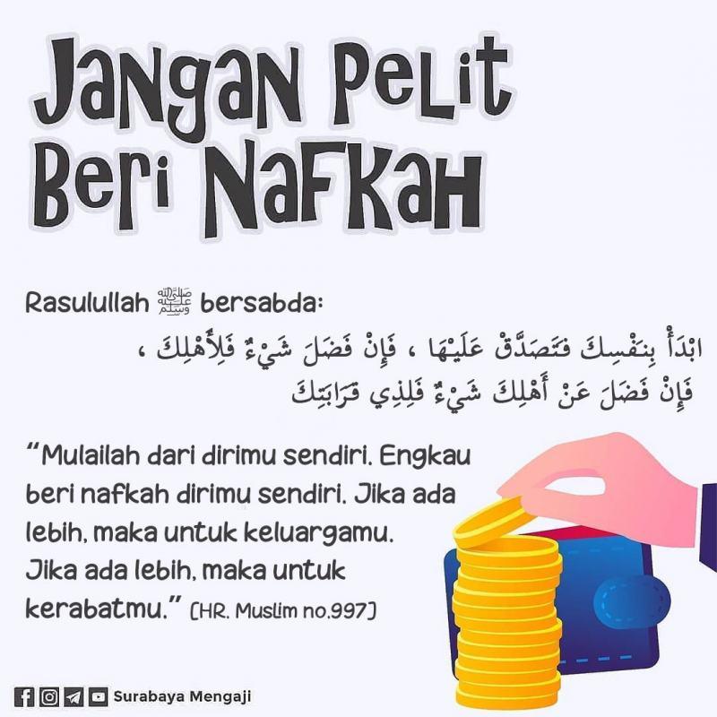 JANGAN PELIT BERI NAFKAH